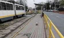 Stația tramvaiului 41 din Piața Drumul Taberei, marți, 24 martie 2020, ora 8 dimineața (Foto: RFI/Cosmin Ruscior)