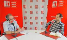 Constantin Rudniţchi și Andrei Stoleriu in studioul RFI