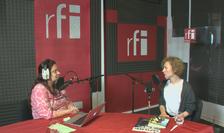 Ana-Maria Caia și Andrada Crânguș în studioul RFI România
