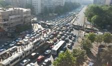 Trafic aglomerat în Bucureşti. Primarul Gabriela Firea promite soluţii