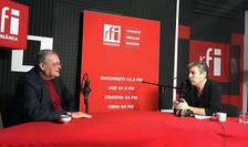 Dan Matei Agathon și Nicolas Don in studioul de inregistrari RFI Romania