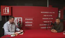 Daniel Nazare și Dan Petrescu in studioul RFI Romania