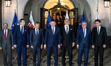 Lideri europeni, în ajunul summit-ului informal de la Bratislava (Foto: AFP/Vladimir Simicek)
