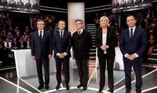"""""""Principalii"""" 5 candidati la prezidentialele din Franta, înaintea dezbaterii organizate de canalul TF1, 20 martie 2017"""