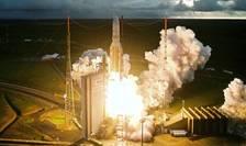 Decolarea unei capsule Ariane 5 de la Centrul Spatial European din Guyana Franceza, America de Sud