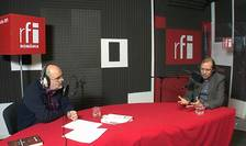 Ovidiu Nahoi și Alexandru Florian in studioul RFI Romania