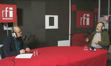 Ovidiu Nahoi și Stelian Tănase in studioul radio la Decriptaj