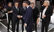 Dezbaterea principalilor candidati la Elysée a atras aproape 10 milioane de telespectatori