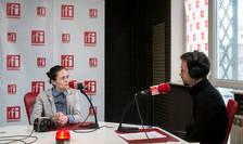 Irina Zamfirescu, în studioul RFI (arhivă)