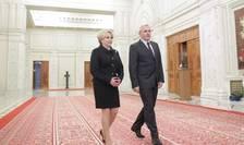 Premierul României Viorica Dàncilà si liderul PSD Liviu Dragnea, pe 17 ianuarie 2018 la Bucuresti