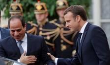 Emmanuel Macron si Abdel Fattah al-Sissi pe 24 octobrie 2017 la Palatul Elysée