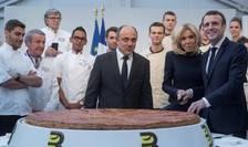 "Emmanuel Macron oficiind ""galeta regilor"" la Palatul Elysée, vineri 11 ianuarie 2019"