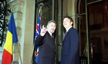Tony Blair alături de fostul preşedinte Emil Constantinescu la vizita din România din 1999