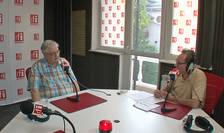 Mircea Coşea și Constantin Rudniţchi in studioul de emisie al radio RFI Romania