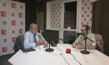 Cristian Pârvan și Constantin Rudniţchi in studioul RFI Romania