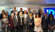 """Alesii francezi, membri ai partidului Reuniunea nationalà (de extremà dreaptà), care fac parte din grupul european """"Identitate si democratie"""""""