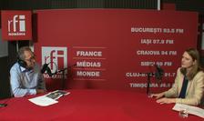 Constantin Rudnitchi și Oana Corniciuc in studioul de inregistrari RFI Romania