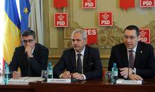 Liviu Dragnea (c), condamnat la un an de închisoare cu suspendare, în dosarul referendumului.