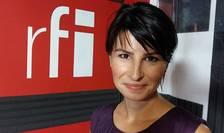 Rodica Obancea in studioul de inregistrari RFI Romania