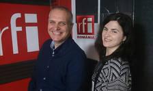 Costin Vasile și Miruna Macavei in studioul RFI Romania