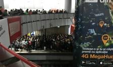 Aglomeraţie la staţia de metrou de la Piaţa Victoriei