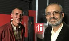 Marian Burtea și Cătălin Ionescu in studioul RFI
