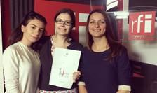 Invitatele Andreei Pietrosel la Tanar in Europa, in studioul de inregistrari RFI Romania