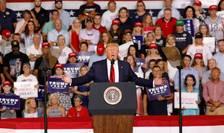 Donald Trump la miingul din Carolina de Nord