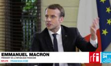 Emmanuel Macron în cursul unei precedente intervenţii televizate
