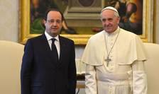 Presedintele François Hollande primit în audientà de Papa Francisc în ianuarie 2014