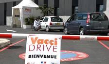 Franta: Primul drive-in pentru administrarea unui vaccin a fost deschis în apropiere de Montpellier, 13 aprilie 2021.