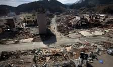 Cartier din Onagawa, distrus de cutremurul din 11 martie 2011.