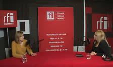Georgiana Iorgulescu si Cristina Topescu in studioul de inregistrari RFI Romania