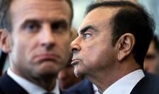 Presedintele francez Emmanuel Macron si Carlos Ghosn