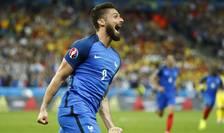 Olivier Giroud, autorul primului gol francez în meciul contra României de pe Stade de France în deschiderea lui Euro 2016