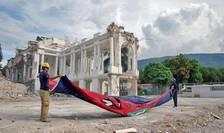 Palatul prezidenţial distrus în urma cutremurului de pe 12 inauarie 2010