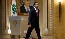 Saad Hariri pàràseste conferinta de presà în cursul càreia si-a anuntat demisia din fruntea guvernului libanez, 29 octombrie 2019