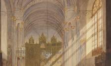 Pictorul elvețian Henri Trenk, Interiorul bisericii Sf. Spiridon Nou din București, 1869