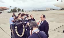 Presedintele Frantei François Hollande la sosirea sa la Rio unde a venit ca sà sprijine candidatura Parisului pentru JO din 2024