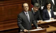 Presedintele François Hollande în fata Congresului francez reunit în mod exceptional la Versailles pe 16 noiembrie 2015
