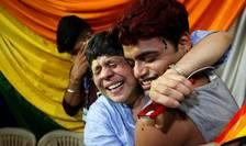 Bucurie mare în rândul comunitàtii gay din India (aici la Mumbai) la aflarea verdictului Curtii supreme care legalizeazà homosexualitatea, 6 septembrie 2018