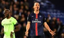 Zlatan Ibrahimovici dupà o uriasà ratare în meciul tur cu Manchester City la Paris pe 6 aprilie 2016