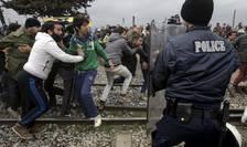 Poliția macedoneană a folosit gaze lacrimogene împotriva sutelor de sirieni și irakieni care încercaseră să forțeze granița