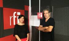 Elena Calistru și Nicolas Don în studioul RFI România