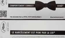 40.000 de astfel de flyers cu avertismente privind hàrtuirea sexualà au fost distribuite la Festivalul de la Cannes 2018