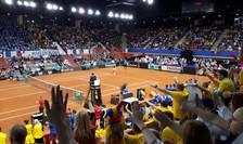 Ambiantà electricà în tribunele sàlii Kindarena din Rouen pentru semifinala de Fed Cup Franta-România
