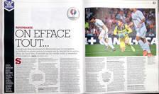 Revista francezà France Football publicà 4 pagini despre nationala României de fotbal