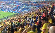 Suporteri români în tribunele stadionului POL din Lyon înaintea meciului cu Albania din 19 iuie 2016