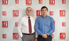 Alin BĂIESCU si Mihai CRĂCEA in studioul RFI Romania