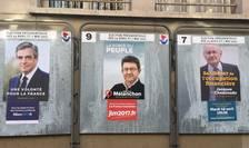 Afise cu candidatii la alegerile prezidentiale din Franta, Paris, 15 aprilie 2017